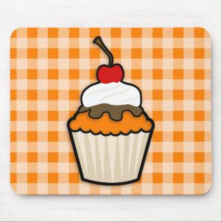 Orange Cupcake Mouse Pad