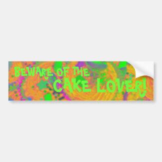 Orange Cupcakes 'cake lover' bumper sticker