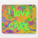 Orange Cupcakes 'i love cake' mousepad
