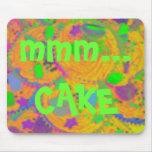 Orange Cupcakes 'mmm... cake' mousepad