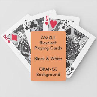 ORANGE Custom Bicycle® Black & White Playing Cards