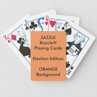ORANGE Custom Bicycle® ELECTION Playing Cards