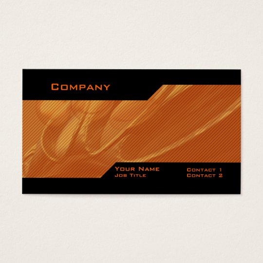 Orange Custom Business Card