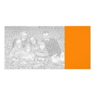 Orange Customized Photo Card