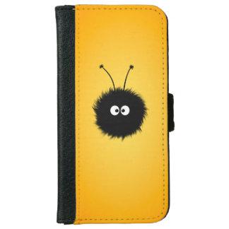 Orange Cute Fluffy Dazzled Bug iPhone 6 Wallet Case