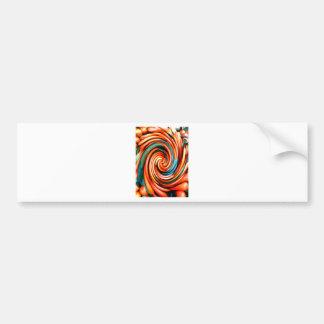 Orange Cyclone. Bumper Stickers