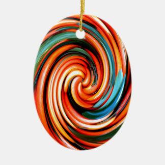 Orange Cyclone. Christmas Ornament