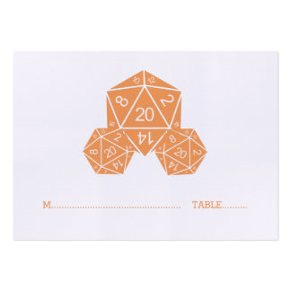 Orange D20 Dice Wedding Place Card Pack Of Chubby Business Cards
