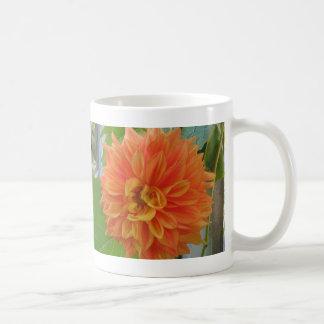 Orange Dahlia Basic White Mug