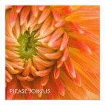 Orange Dahlia DSC4447 13 Cm X 13 Cm Square Invitation Card
