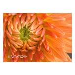 Orange Dahlia DSC4447 Personalised Invite