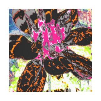 ORANGE DAHLIA FLORAL FLOWER GALLERY WRAP CANVAS