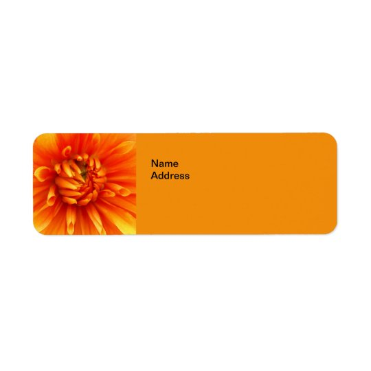 Orange Dahlia  Return Address Labels