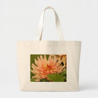 Orange Dahlias Tote Bags