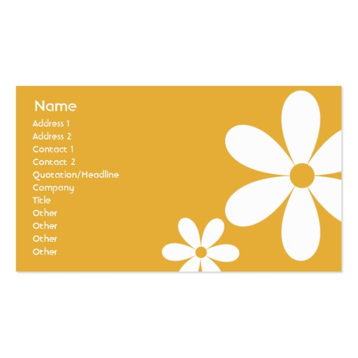 Orange Daisies - Business Business Cards