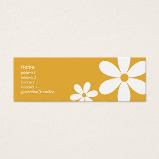 Orange Daisies - Skinny Mini Business Card