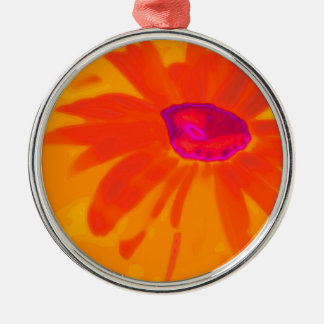 Orange Daisy Christmas Ornament
