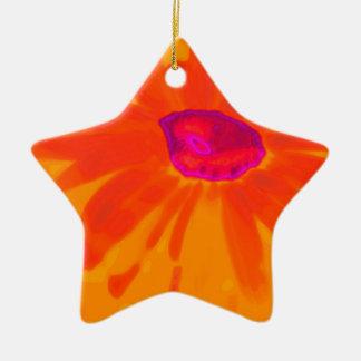 Orange Daisy Christmas Ornament