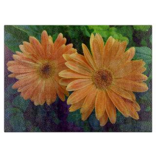 Orange Daisy Cutting Board