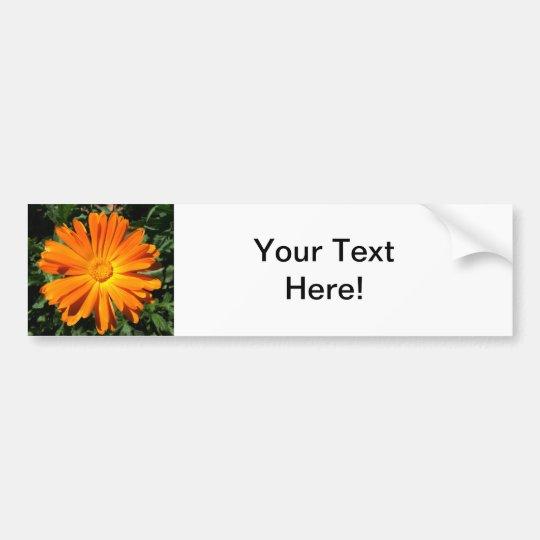 Orange Daisy design Customisable Bumper Sticker