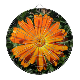 Orange Daisy design Customizable Dartboard