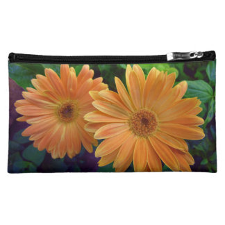 Orange Daisy Makeup Bag