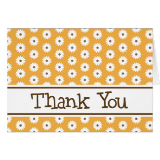 Orange Daisy Thank You Note Cards