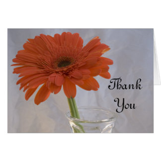 Orange Daisy Wedding Bridesmaid Thank You Card
