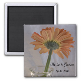 Orange Daisy Wedding Magnet