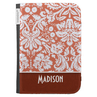 Orange Damask Cute Cases For The Kindle