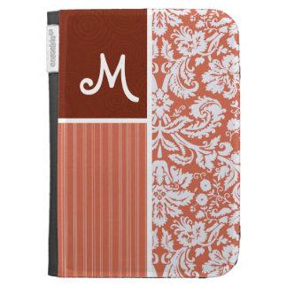 Orange Damask Pattern Kindle 3G Cases