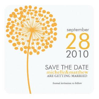 Orange Dandelion Save the Date Announcements
