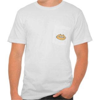Orange Dandy Cat Pocket T-shirt
