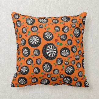 Orange dartboard pattern cushion