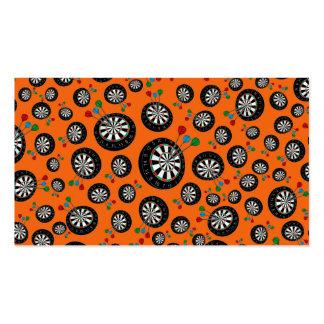 Orange dartboard pattern pack of standard business cards