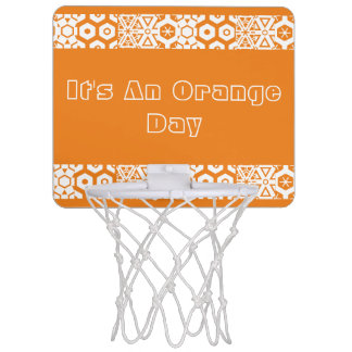 Orange Day Geometric Mini Basketball Hoop