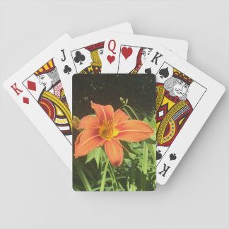 Orange Day Lilies Playing Cards