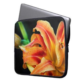 Orange Day Lily Flower Close Up Laptop Sleeve