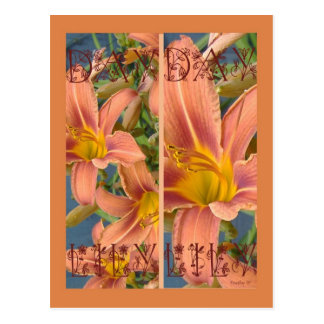 ORANGE DAYLILIES BOOKMARKS POSTCARD