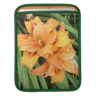 Orange Daylilies iPad Sleeve