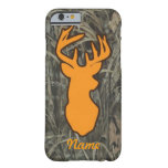 Orange Deer Head Camo iPhone 6 case Barely There iPhone 6 Case