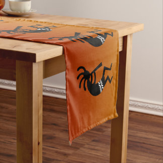 Orange Desert Sunset Kokopelli Southwest Short Table Runner