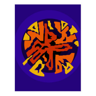 Orange design by Moma Postcard