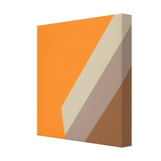 Orange Design Painting Alfa Canvas Print
