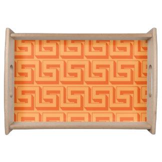Orange Design Tray