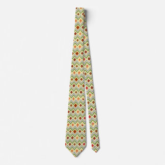 Orange Diamond Abstract Art Tie