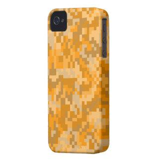 Orange Digital Camouflage iPhone 4 Covers