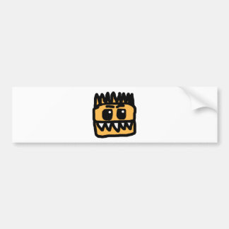 Orange Dinosaur Bumper Stickers