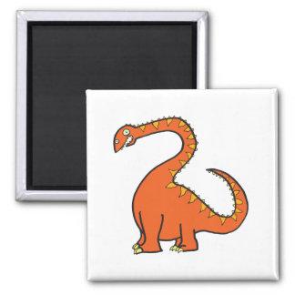 Orange Diplodocus Refrigerator Magnets
