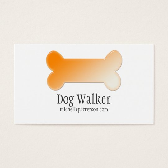 Orange Dog Bone Business Card Design 2